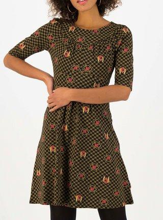 Žluto-černé vzorované šaty Blutsgeschwister Home Sweet Home