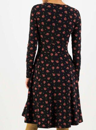 Čierne kvetované šaty Blutsgeschwister Shalala Tralala