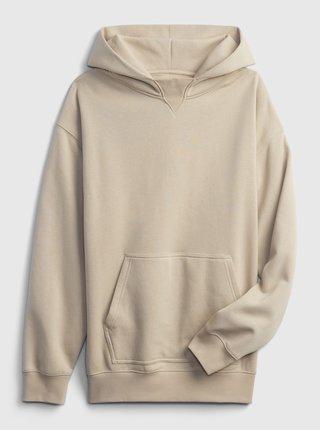 Béžová klučičí dětská mikina hoodie GAP