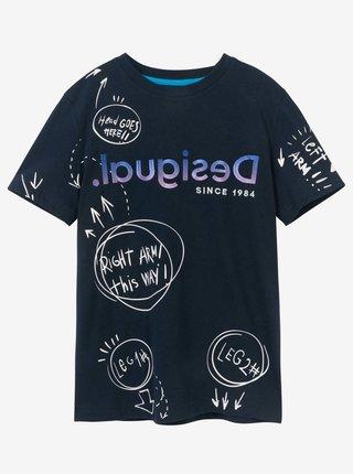 Desigual modré chlapčenské tričko TS Marc