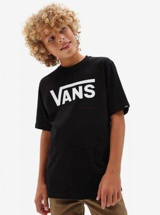 Vans CLASSIC black/white dětské triko s krátkým rukávem - černá