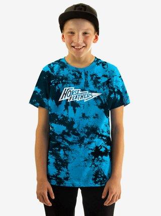 Horsefeathers FLASH BLUE TIE DYE dětské triko s krátkým rukávem
