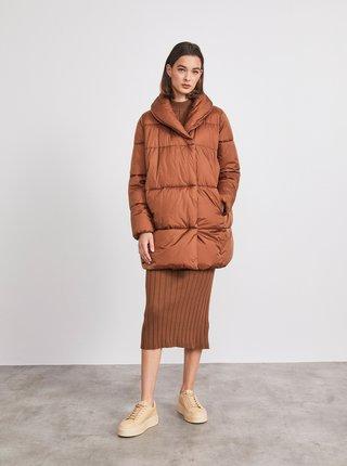 Hnedá dámska prešívaná bunda METROOPOLIS Mimi
