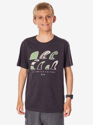 Rip Curl SWC FIN washed black dětské triko s krátkým rukávem - šedá