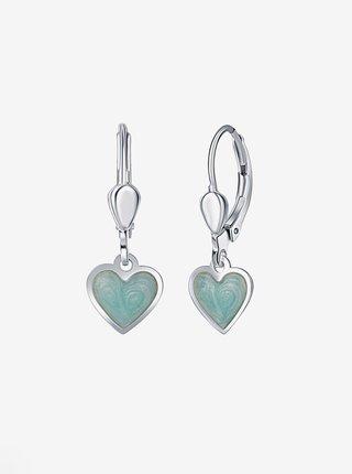 Dětské stříbrné náušnice Mint srdce PRAQIA