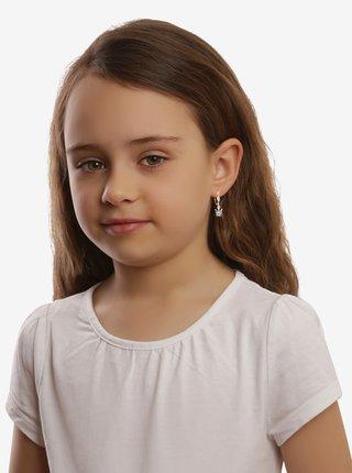 Dětské stříbrné náušnice Modrá korunka PRAQIA