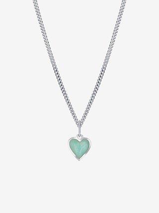 Dětský stříbrný přívěsek na řetízku Mint srdce PRAQIA