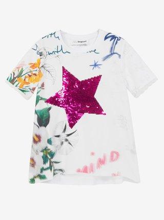 Desigual bílé dívčí tričko TS Amparo