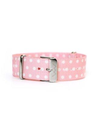 Světle růžový dámský puntíkovaný textilní pásek VUCH Silver Rose