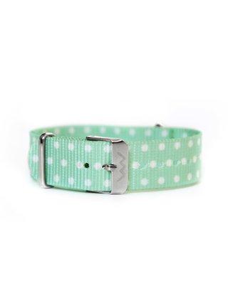 Zelený dámský puntíkovaný textilní pásek VUCH Silver Tyrkys