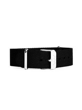 Černý dámský textilní pásek VUCH Silver Black