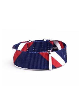Červeno-modrý dámský textilní pásek VUCH Silver Blue Red