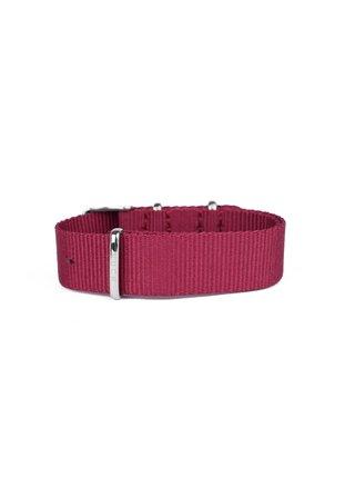 Vínový dámský textilní pásek VUCH Violet Silver