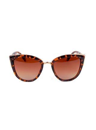 Hnědé dámské sluneční brýle se zvířecím vzorem VUCH Dixi
