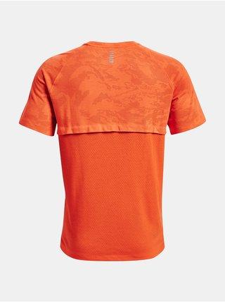 Tričko Under Armour Streaker 2.0 Camo SS - oranžová