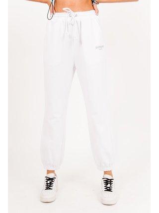 Bílé dámské tepláky blanc logo Jogging Pantalon