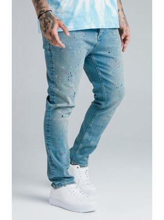 Modré pánské skinny fit džíny DENIMS RIOT FIT LOOSE AOKI STEVE X