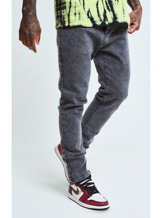 Černé pánské skinny fit džíny OFS_NS DENIMS FIT LOOSE AOKI STEVE X