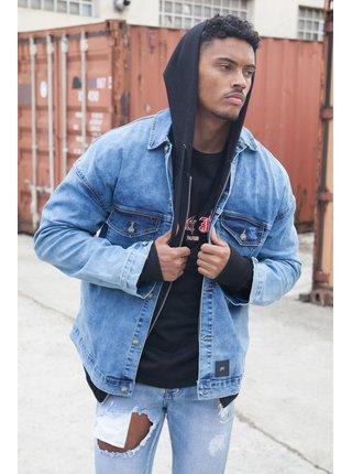 Modrá pánská džínová bunda Blue Jacket Denim Shoulders Dropped