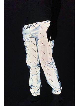 Tmavě šedé pánské reflexní vzorované tepláky  Joggers logo reflective June Sixth