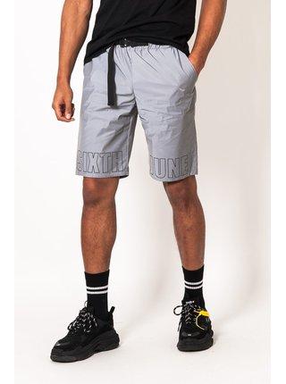Světle šedé pánské reflexní kraťasy grey shorts logo Reflective