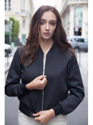 Černá dámská bunda s výšivkou na zádech June Sixth