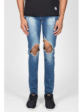 Modré pánské skinny fit džíny Blue Holes Jean June Sixth Jeans
