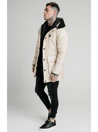 Krémová pánská zimní bunda s kapucí PARKA PUFF NAVIGATE