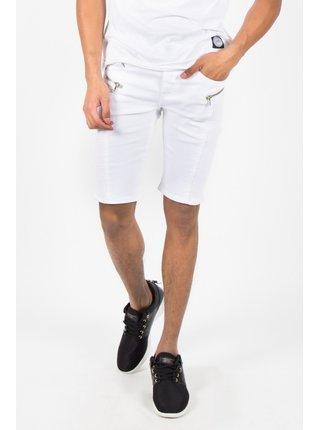 Bílé pánské džínové kraťasy White Biker June Sixth