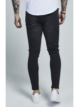 Černé pánské slim fit džíny Silk Sik rifle