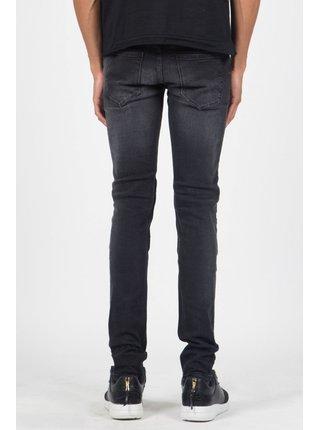 Černé pánské slim fit džíny Black Pleated Jean June Sixth Jeans