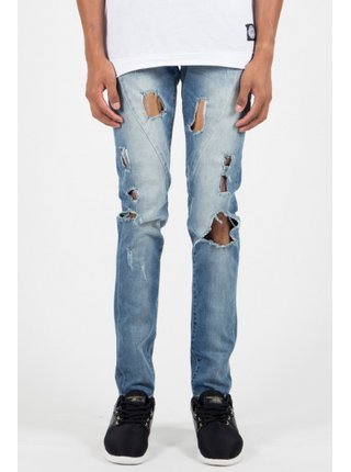 Světle modré pánské straight fit džíny Blue June Sixth Jeans