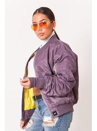 Fialová dámská bunda Purple Oversize June Sixth Bombera