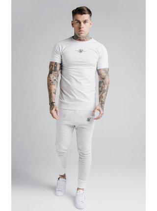 Světle šedé pánské tričko TEE GYM RAGLAN RIB UNITE