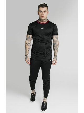 Černé pánské tričko TEE JACQUARD TRANQUIL