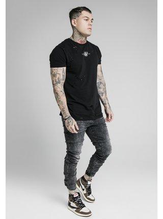 Tmavě šedé pánské skinny fit džíny DENIMS CUFF ELASTICATED