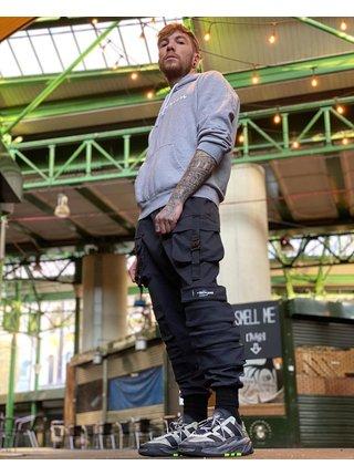 Černé pánské kalhoty s kapsami BLACK PANTS POCKET JUNE SIXTH