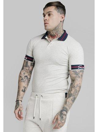 Bílé pánské polo tričko TAPE EXPOSED SHIRT POLO PIQUE