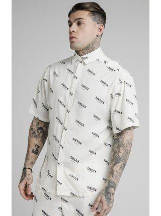 Bílá pánská vzorovaná košile  SHIRT RESORT PRINT REPEAT