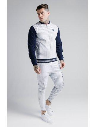 Tmavě modro-bílá pruhovaná bunda BOMBER SPORTS RETRO