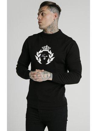 Černý pánský svetr  SWEATER PRESTIGE KNITTED NECK HIGH