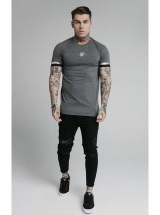 Šedé pánské tričko  TEE TECH CUFF DUAL
