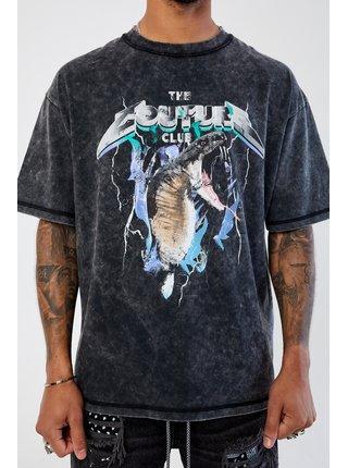 Černé pánské tričko s potiskem T-SHIRT GRAPHIC ATTACK COBRA