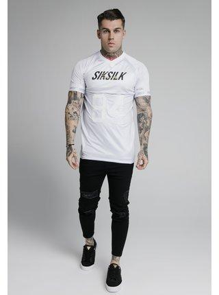 Bílé pánské tričko s potiskem TEE SPORTS STRETCH MARBLE