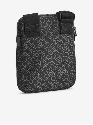 Černá pánská vzorovaná crossbody taška Calvin Klein