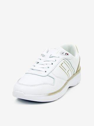 Biele dámske kožené tenisky Tommy Hilfiger