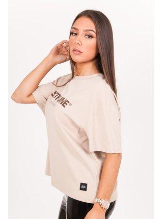 Světle hnědé dámské tričko  June Sixth Sand T-Shirt Printed