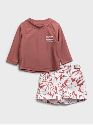 Červené holčičí dvojdílné plavky graphic swim