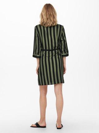 Šaty na denné nosenie pre ženy ONLY - zelená, čierna