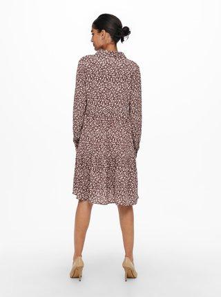Vínové květované košilové šaty Jacqueline de Yong Piper